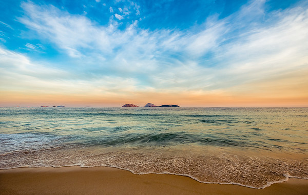 View of the Cagarras Islands from Ipanema
