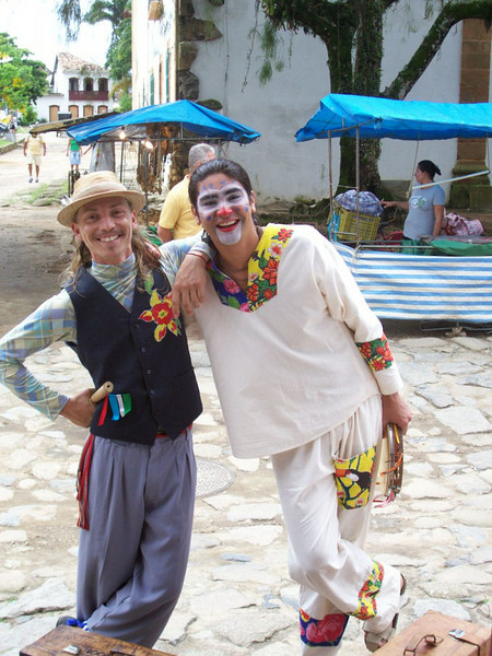 Entertainers at our restaurant in Paraty