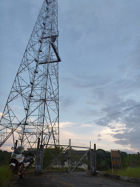 The Embratel tower, our campsite while on BR-319, Rodavia Fantasma, on the way to Manaus