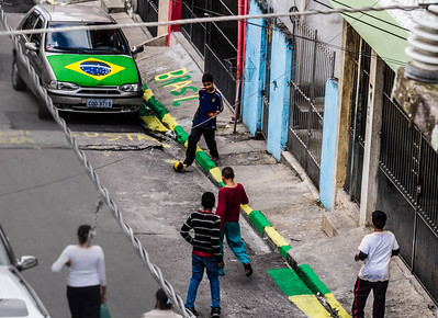 Kids playing in Heliopolis, a favela in São Paulo, Bazil. June 2014.