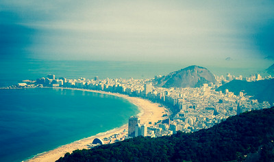Copacabana from Sugarloaf. Rio, Brazil. June 2014.