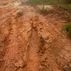 Our tracks in the mud on BR-319, Rodavia Fantasma, on the way to Manaus