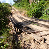 Sketchy bridge on BR-319, Rodavia Fantasma, on the way to Manaus