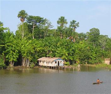 Rio Amazonas, Brazilië.