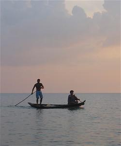 Vissers van Jamaraguay. Amazone, Brazilië.