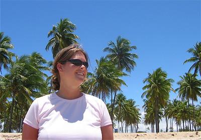 Palmbomen. Porto de Galinhas, Brazilië.