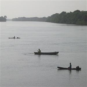 Een vroege Amazone-ochtend. Brazilië.