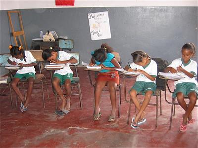 Schoolklasje. Jornada Ampliada Conceicão do Coite, Brazilië.