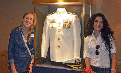 """they both Loved the """"Whites"""" Captain Uniform"""