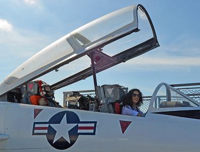 Erica in Trainer Cockpit