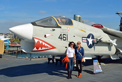 """the Ladies with the """"Crusader"""" Fighter of the Vietnam Era"""