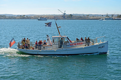 """the Maritime Museum """"Pilot"""" Boat with Tourists"""