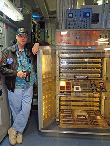 Mike with the early Univac Computer
