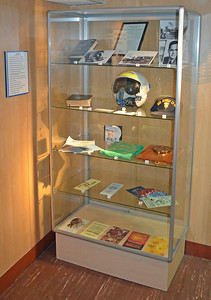 Display Case for the USS Franklin, kamakazied with loss of 800 men in WW II.