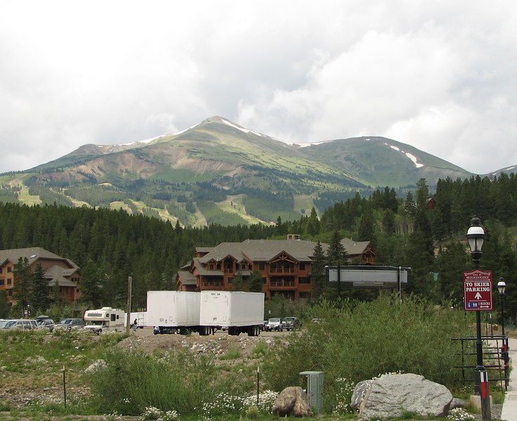 Beautiful Breckenridge, with the mountains looming very close.