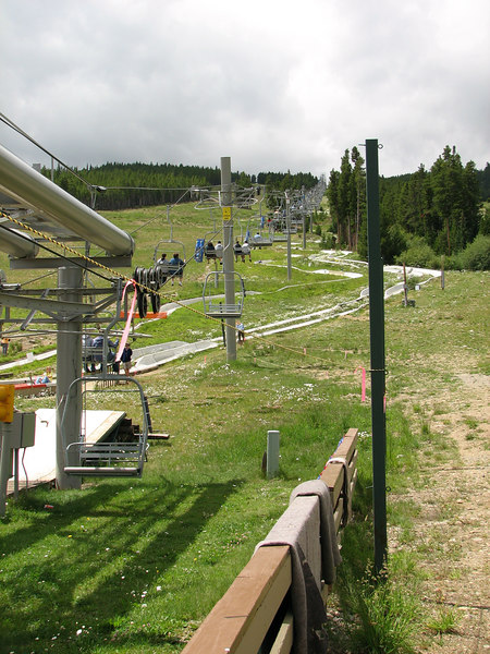 One of the chair lifts at the Peak 8.