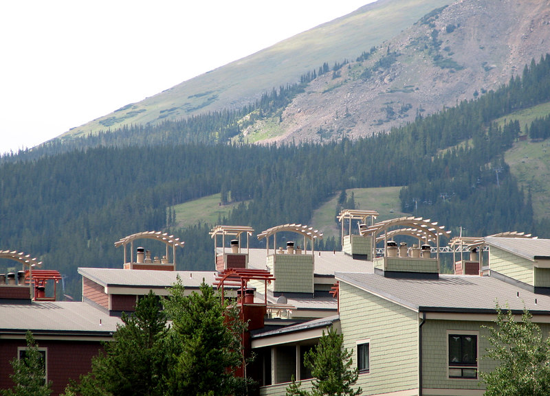 A view from the valley floor in Breckenridge.