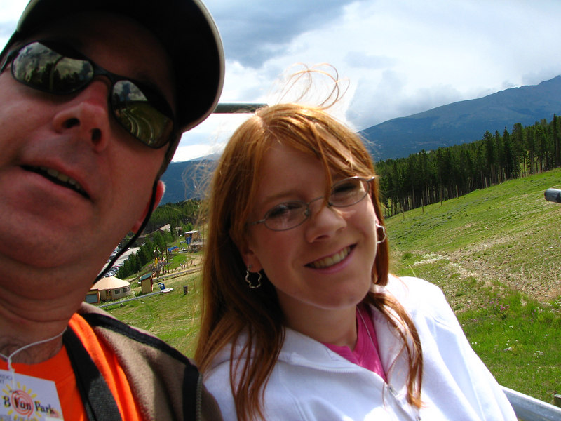 Tali & me on the chair lift.