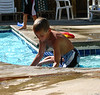 Micah in the pool.
