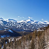 A panoramic view of Breckenridge's numerous ski slopes. This was the only completely clear day we had.