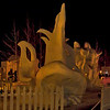 Breckenridge, CO holds an annual ice sculpture festival. This is a general view, and provides an idea of the size of the sculptures. In the following images, the size is not necessarily apparent. This evening the temperature was approaching minus 20° F!