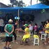 Brazil opening match in Vidigal Favela with our awesome Airbnb hosts