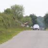 Slangenarend langs de weg bij Cherine