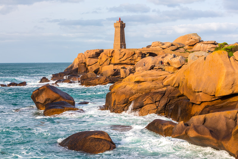 Ploumanach lighthouse, Saint-Guirec, Bretagne, France, 2018