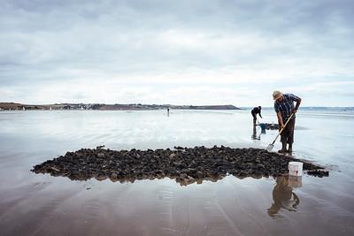 Pentrez - Fishermen looking for worms