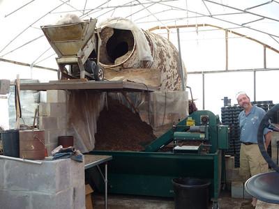 the soil mixer at Brian's friend's nursery