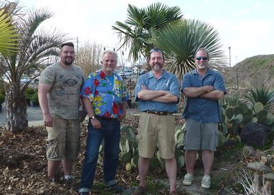 The Exotic Plant Boys:  Brian, Will, Ray, and Joe