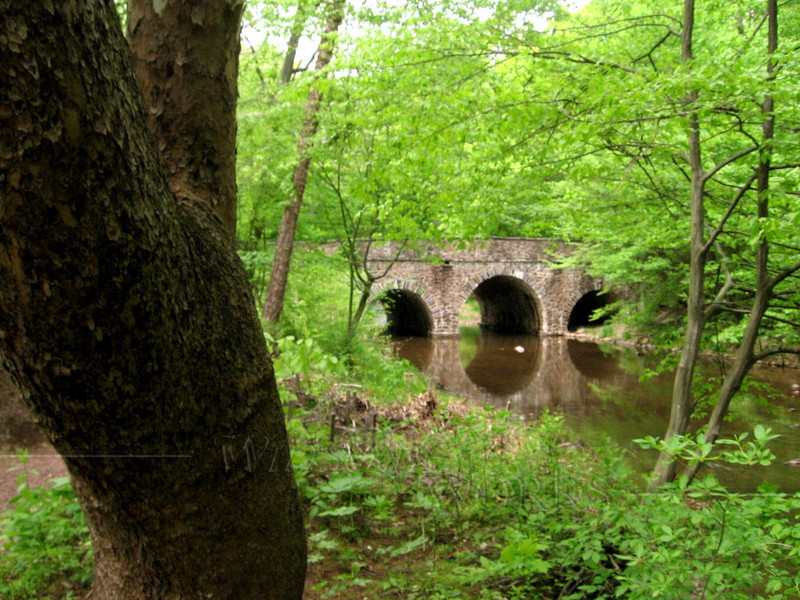 Old Stone Bridge at Bowman's Hill, Bucks County