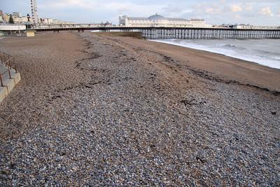 Brighton Pier and the pebble beach