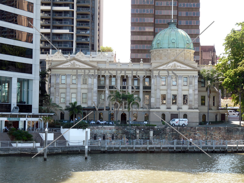 The Customs House along the Brisbane river in Brisbane, Australia.