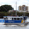 The City Ferry boat cruising the river in Brisbane, Australia.