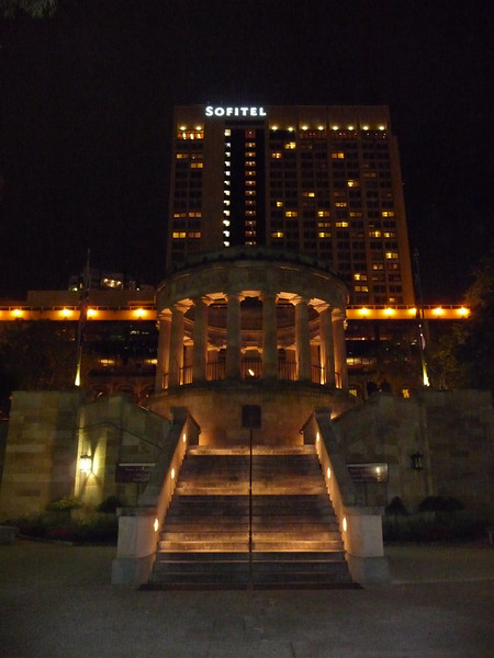 Shrine of Memorial. Hotel Sofitel and Central Railway Station in the background.