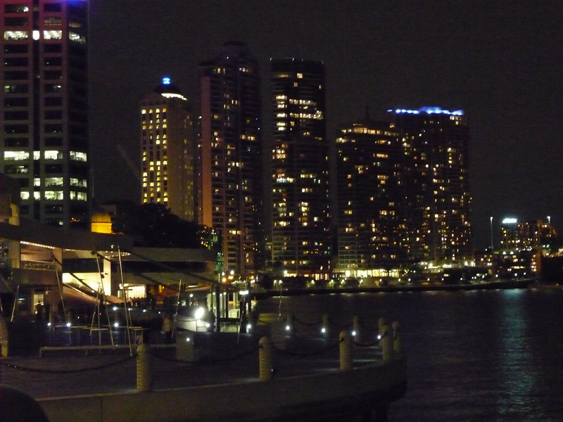 Riverside and apartment buildings on Brisbane River.