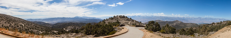 Panorama taken near the Bristle Cone Pine Grove overlooking the hwy 395 valley
