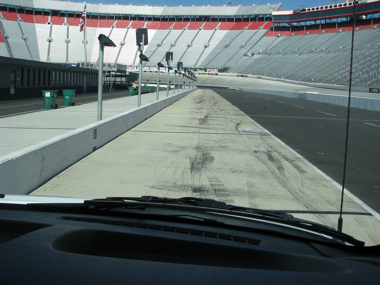 Coming down pit road