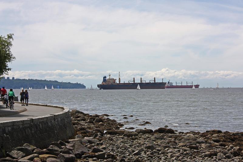Boats at anchor, English Bay