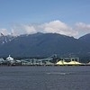 View from Stanley Park - note the mound of raw sulfur