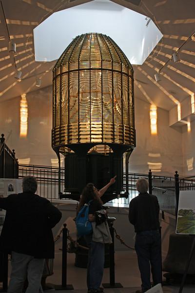 Fresnel lens from old Westport lighthouse
