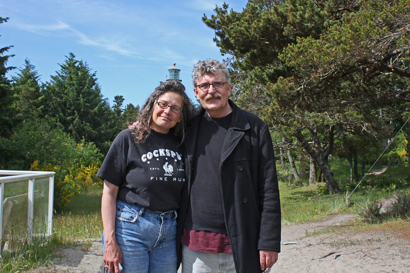 Tammy and Dan Domike, by old lighthouse