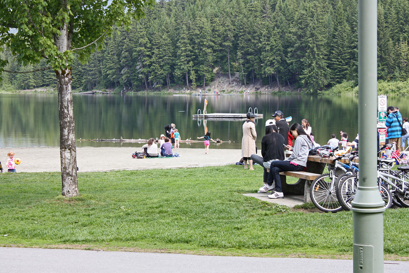 Lost Lake, Whistler - it's a popular picnic and hiking spot in nice weather.