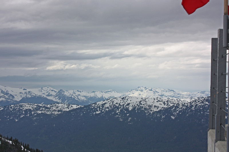 From Whistler Mountain - we rode a cable car up to a restaurant near the peak to have dinner.