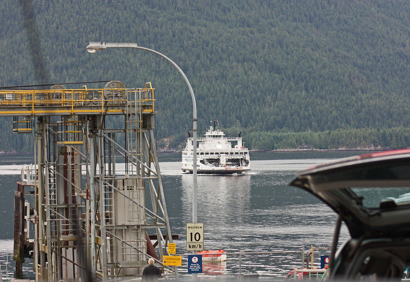 Incoming ferry, Saltery Bay Ferry Terminal