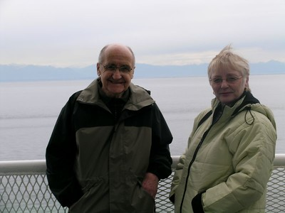 Dad and Carol on the ferry