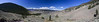 Panoramic view of semi-desert hills near Fraser Canyon, BC, Canada. Going towards Gang Ranch