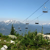 Then we took the ski lift to Whistler's peak.