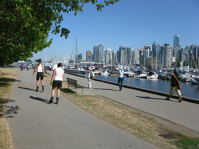 The start of the seawall around Stanley Park, Vancouver's great green space